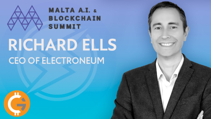 Richard Ells, CEO of Electroneum is Speaking at the Malta AI and Blockchain Summit 2019