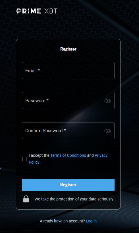 Prime XBT Registration